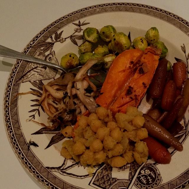 Rainbow plate for dinner!