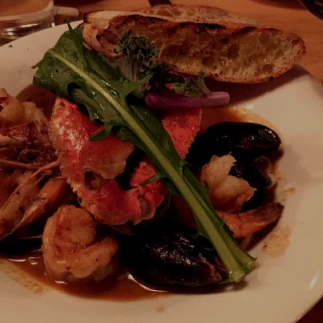 Fish stew at Mint restaurant main st. Tartytown NY