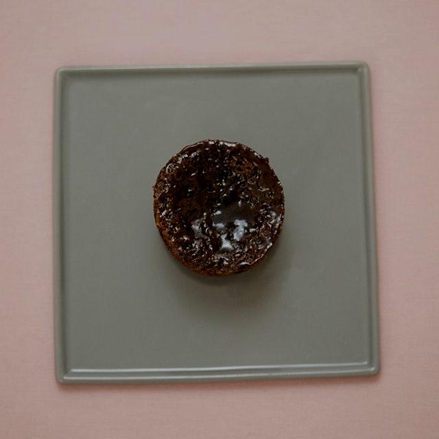 Bad Bunny Cake - gluten-free carrot cake with vegan coconut caramel