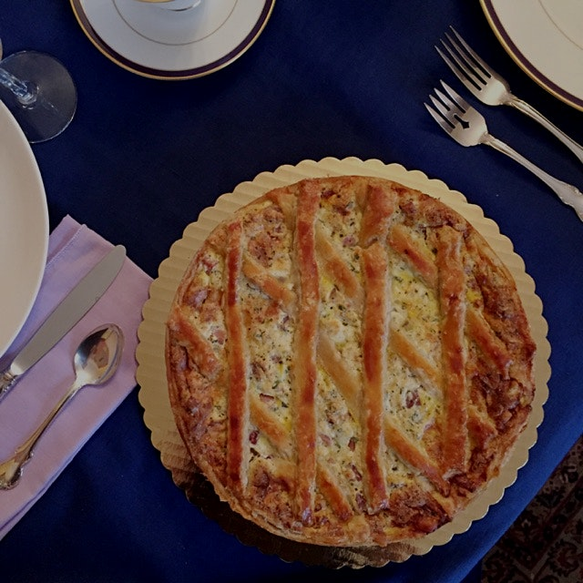 Sicilian peasant pie. A tradition that dates back to antiquity - families would take all the left...