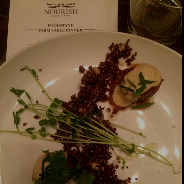 Delicious #meatlessmonday meal @nourishnyc last night to talk about @theFoodstand