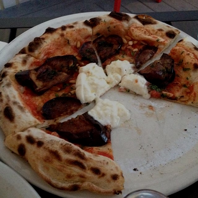 Too good to wait -- fried eggplant and burrata at 2 Amy's