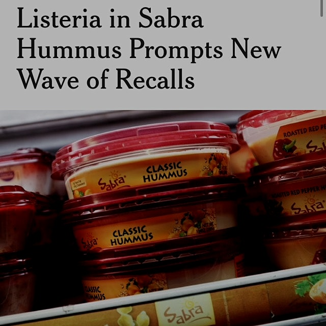 Hey hummus lovers: lysteria found in Sabra hummus http://mobile.nytimes.com/2015/04/10/business/l...