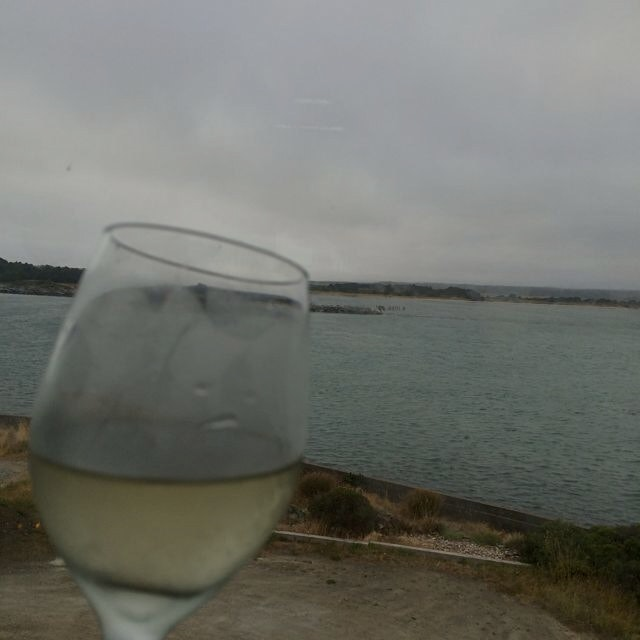 Terrible picture of my #DrinkWithAView @Edgewaters in Bandon, OR