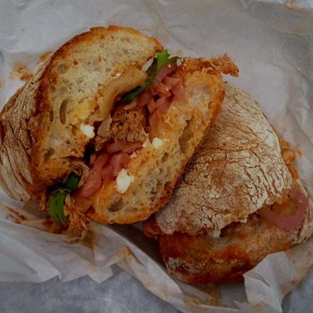 Legit Chicken Tinga from untamed sandwiches