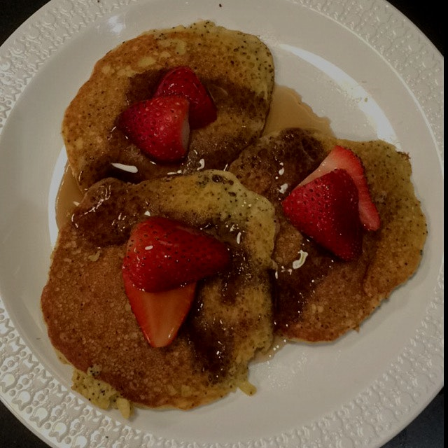 Found a recipe for lemon poppyseed pancakes that are wheat (and gluten) free. Huge hit with the k...