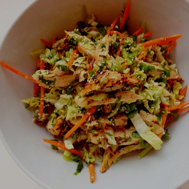 Thai chicken salad and ginger lime dressing