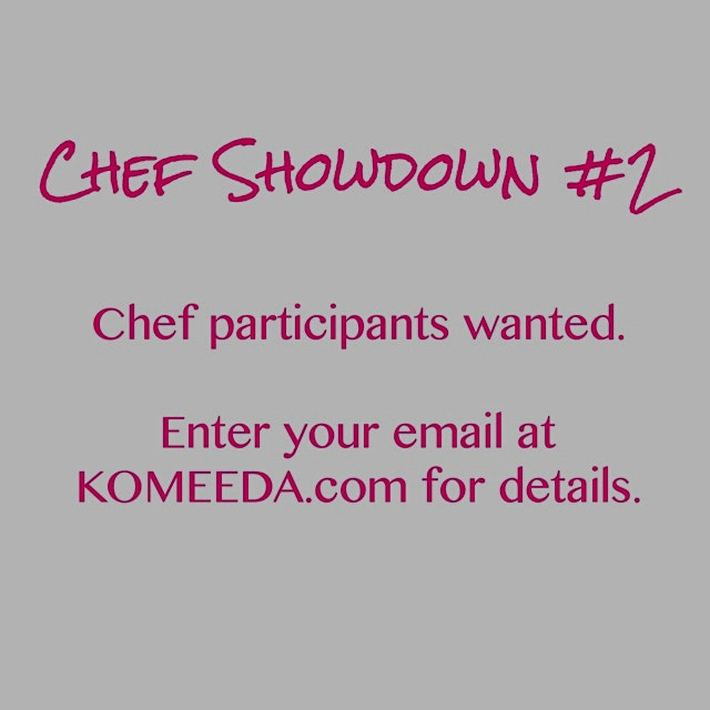 Chefs! We're hosting our second #ChefShowdown and are looking for chef participants.   If interes...