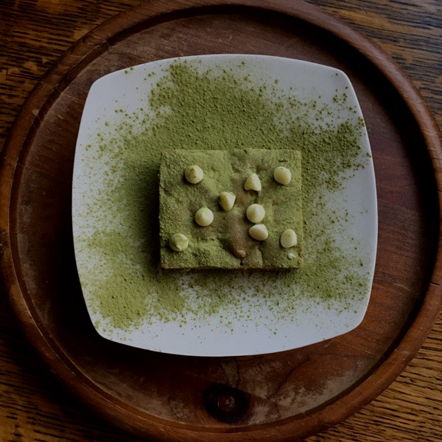 Matcha brownies, the breakfast of champions. Recipe: http://wp.me/p4kZS7-l0