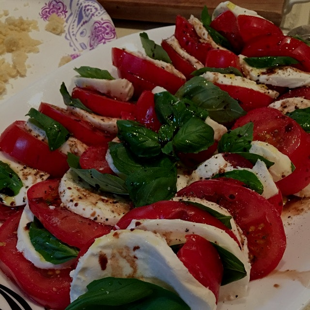Caprese salad screams spring <3