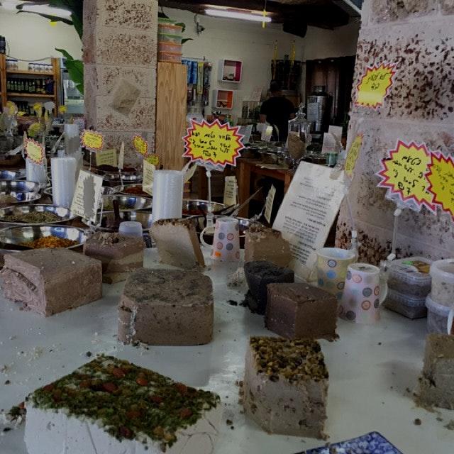 Halva selection at middle eastern Israeli market - Israel