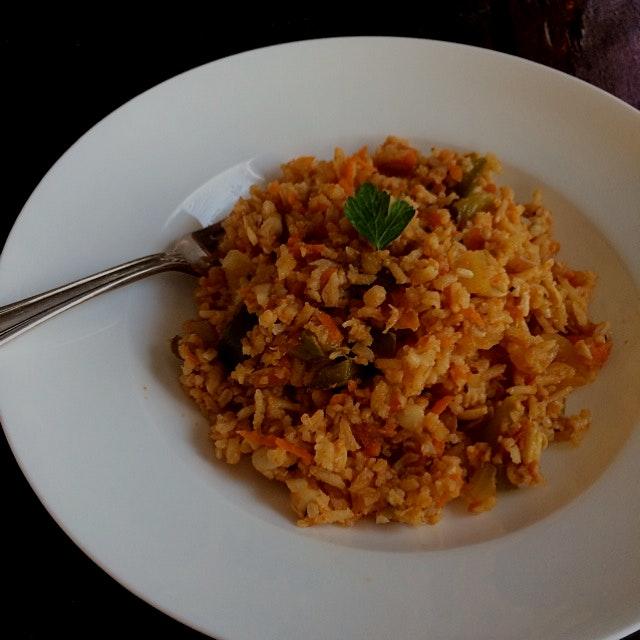 Vegan Jambalaya! Yum! Recipe at www.chefshauna.nyc