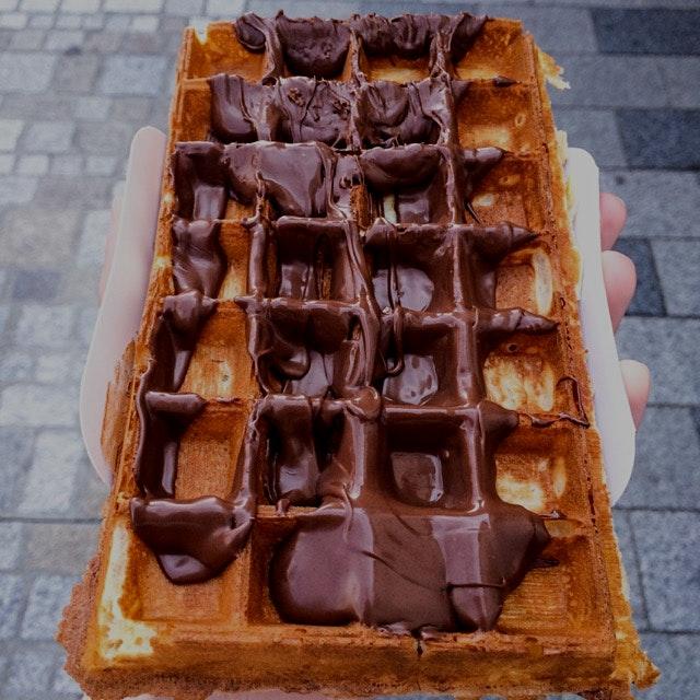 Nutella waffle 😍