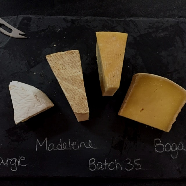 Farmstead cheese tasting at Sprout Creek Farm. Have you tried them all?