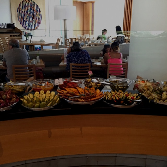 Multi station breakfast buffet at royal beach hotel Eilat Israel -roasted vegetables