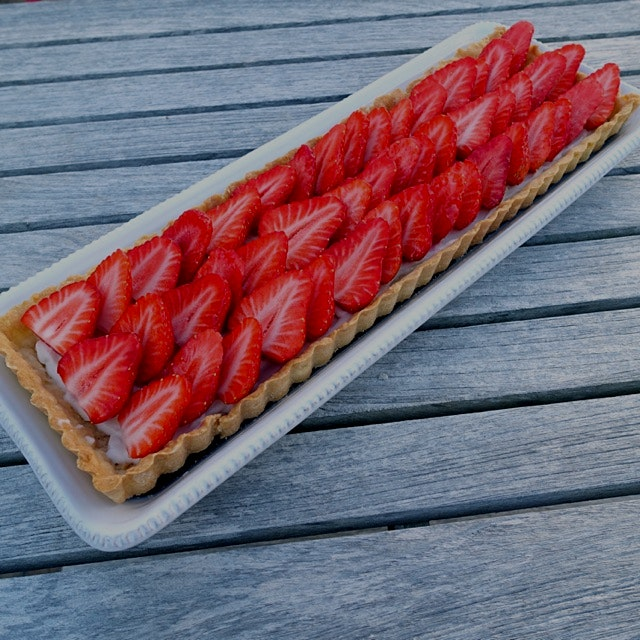 I made an other strawberry tart 🙈 (Prettier than the other one!!)