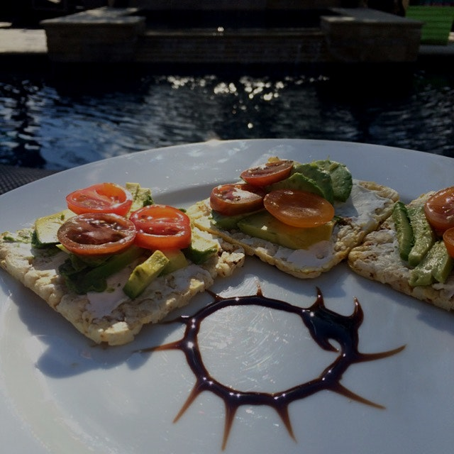 Fresh and tasty poolside treat on a extra sunny day.