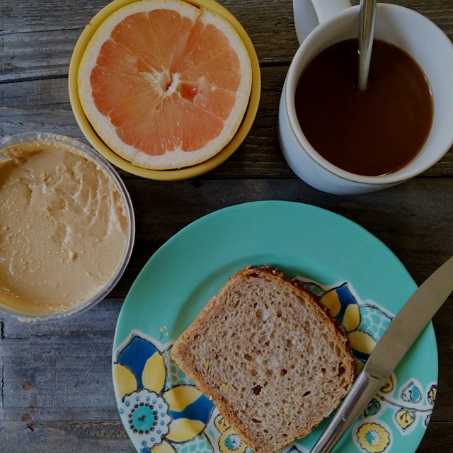 Breakfast of all local Farmigo vendors: Drift Away Coffee, Mellisa's Almond Milk, CeeBee's Citrus...