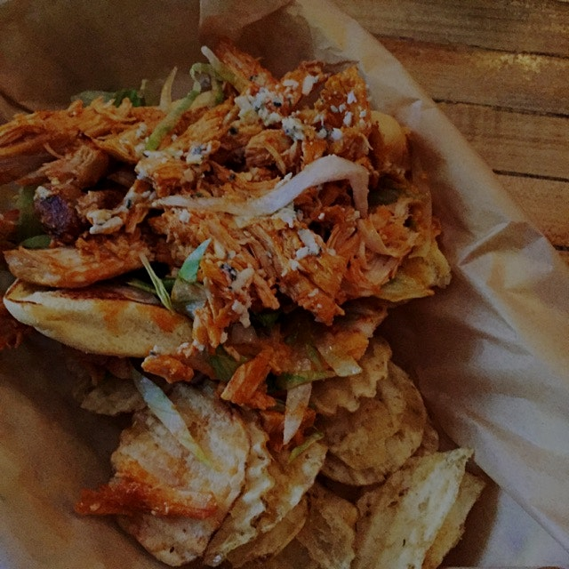 Buffalo Chicken and Vlue Cheese at Earl's Beer and Cheese!