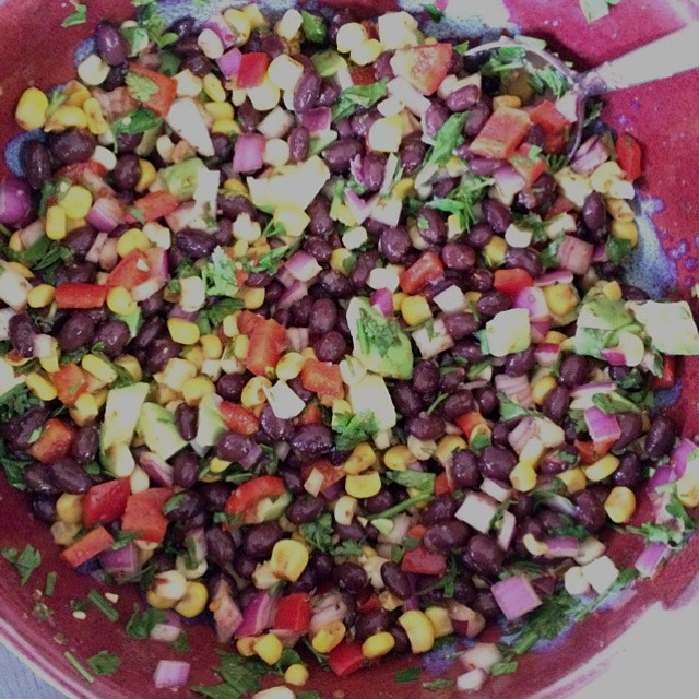 Mexican black bean and corn salad. Happy Cinco de Mayo!