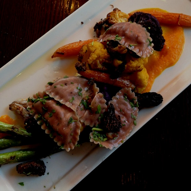 Beautiful Vegan Roasted Veggie Plate featuring amazing seasonal produce!