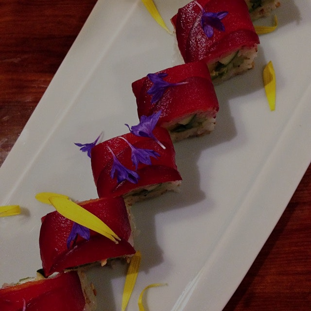 can't BEET this veg sushi