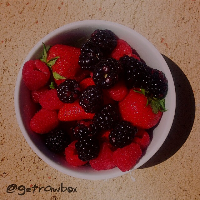 Berries for breakfast!