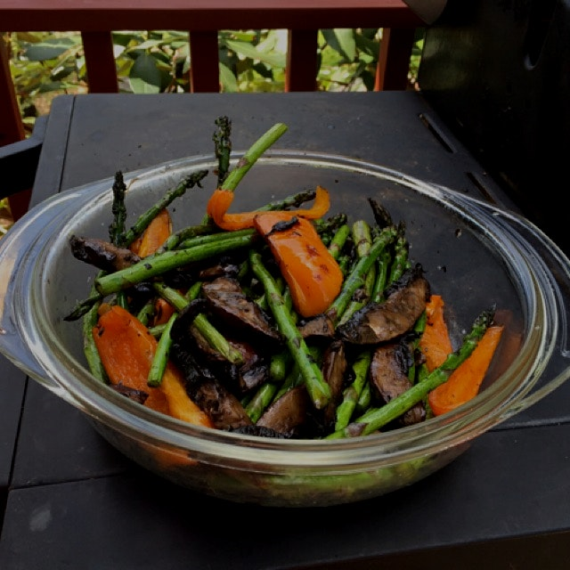 First bbq grilled veggies of the season.