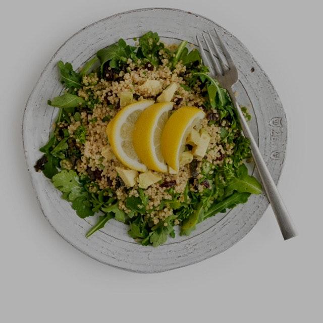 Quinoa tabouli. Recipe on eatrealfoodnyc.com