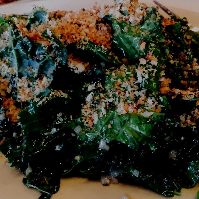 Kale salad at a new restaurant I wanted to try!! #FoodRevolution