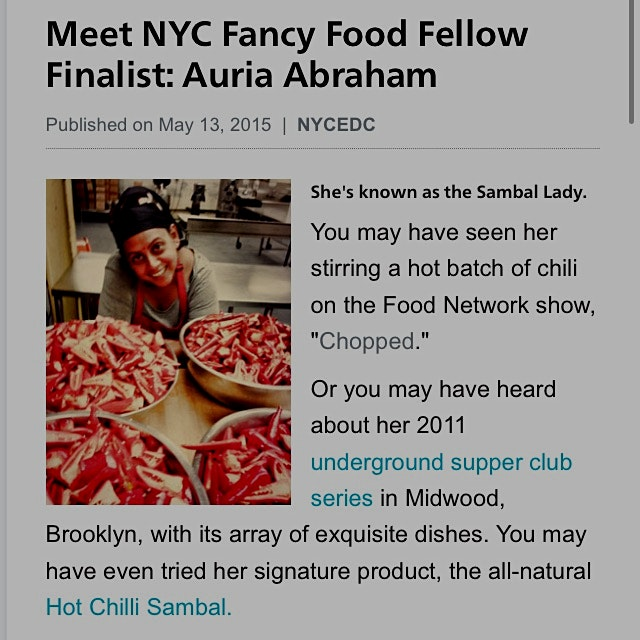 Read it here: http://www.nycedc.com/blog-entry/meet-nyc-fancy-food-fellow-finalist-auria-abraham...