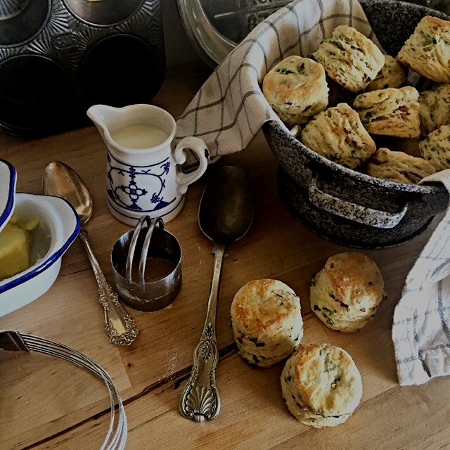 Another day, another ramp recipe! Tried an uber-flakey buttermilk biscuit recipe from the Local M...