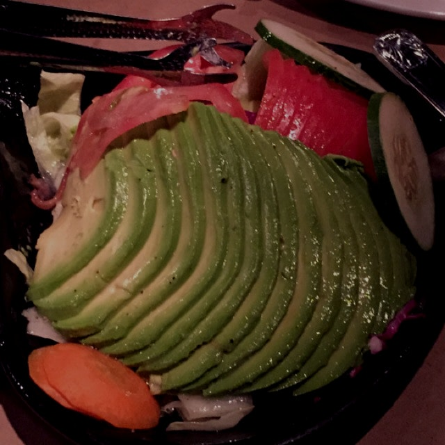 Avocado salad at Pio Pio 10th ave