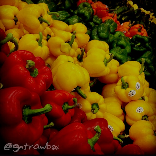 Beautiful fresh local peppers. 👍 #foodrevolution