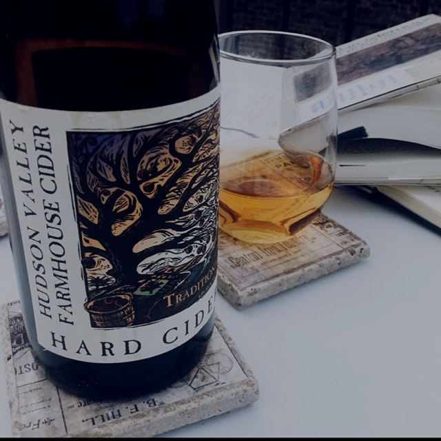 Hudson Valley Farmhouse Cider - sparkling, semi-dry, blended from HRV apples, and takes the edge ...
