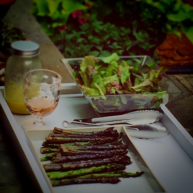 Simply salad w/ a glass of rose. Happy summer yall!
