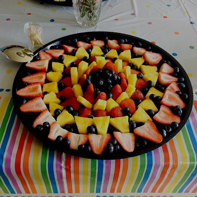 A fun little fruit spread I made with my niece for her 5th birthday!