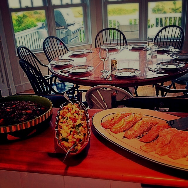 Amazing in house meal prepared by Chef Carol - Westhampton Beach