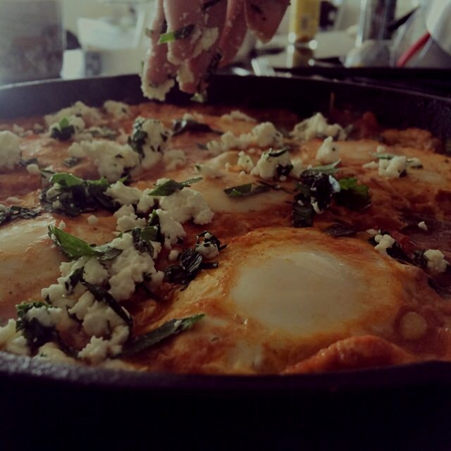 First attempt at Shakshuka = great success!