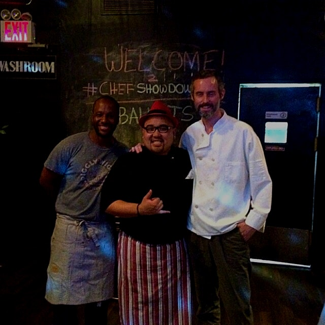#TBT. Our winner from our Chef Showdown, Chef Flo Valdez (middle) from @serveMEnow.
