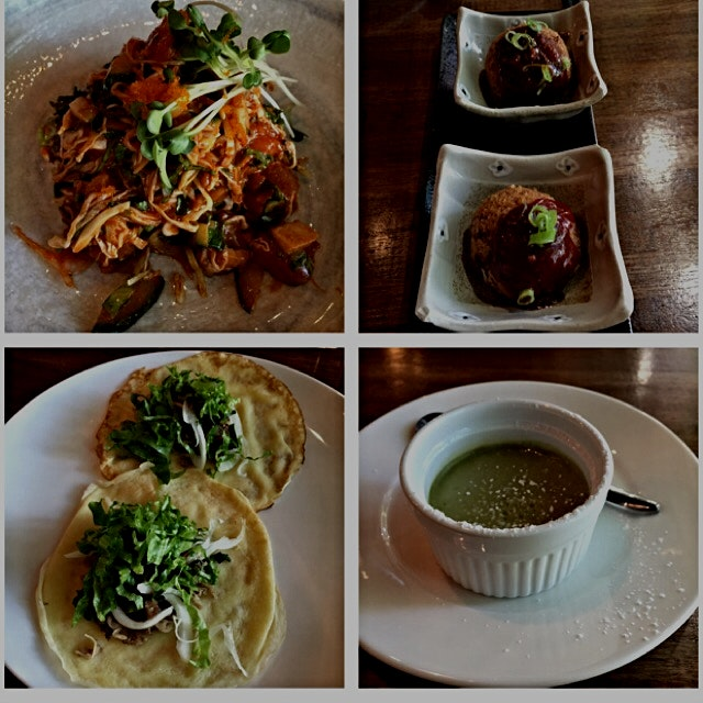 Kosoo Korean and Raw Bar with my Mom. Set menu. Here are only 4 of the dishes. Had oysters, mushr...