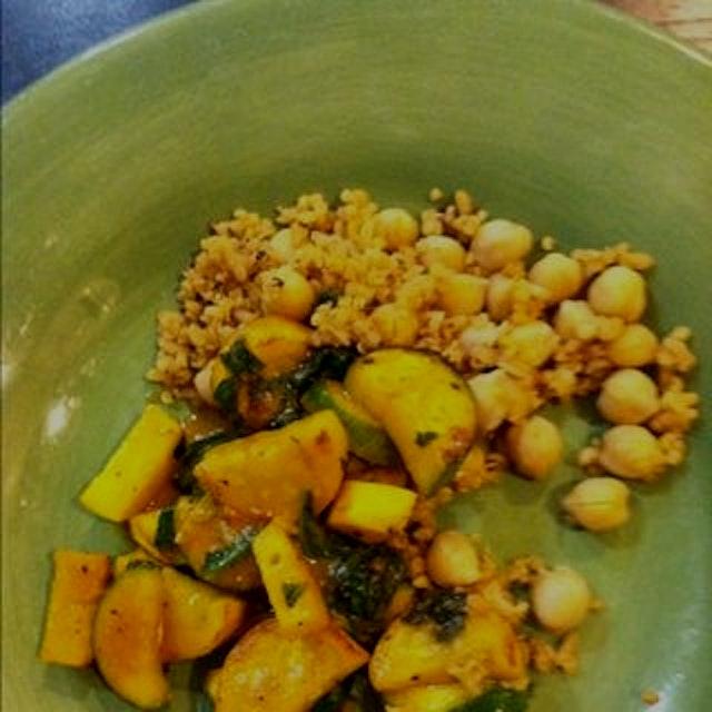 Yellow curry zucchini!