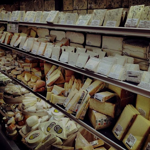 My, my, my... Just LOOK at all this cheese at Union Market - the truffle moltierno defies the law...
