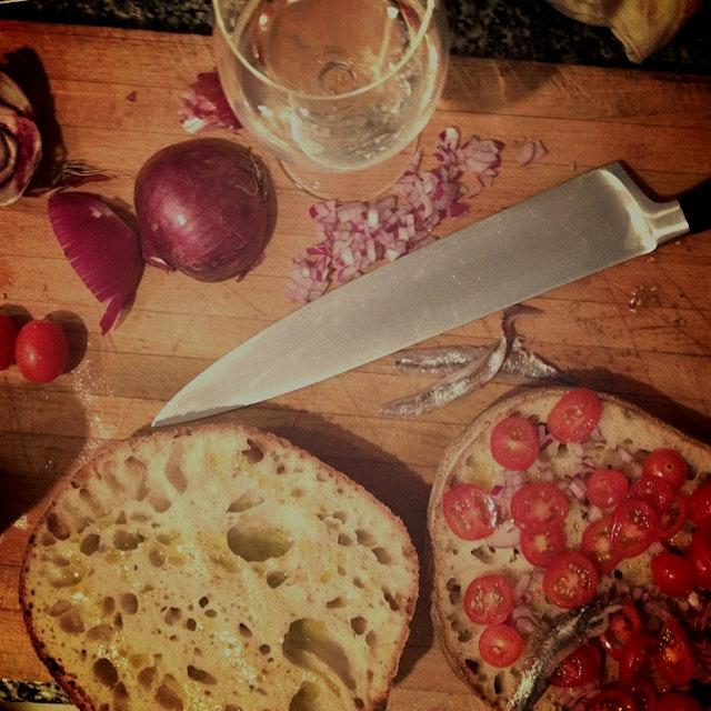 Pani cunsatu! An amazing Sicilian dish.