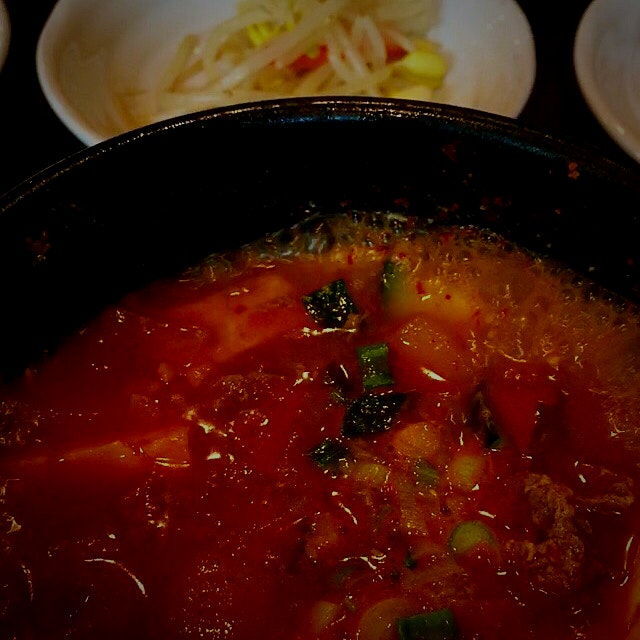 Doenjang Jjigae -Korean Soybean Paste Stew. Earthy and full of healthy goodness!!! One of my favo...