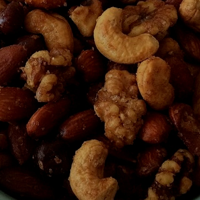 Roast nuts! The best snack.