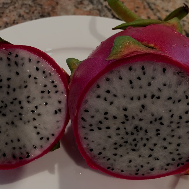 Discovered Pitaya -also called dragon fruit. Beautiful with great nutritional value too