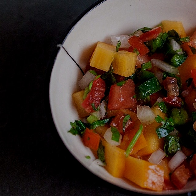 A close-up from that persimmon pico de gallo I crushed the other day! POW!!!!