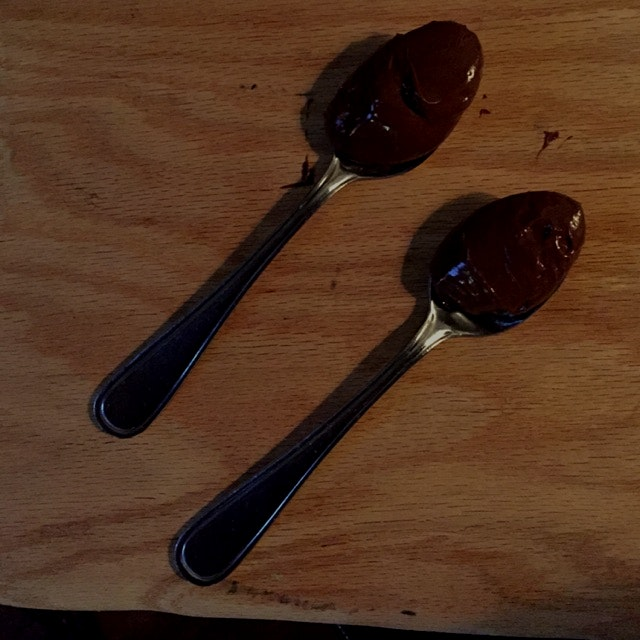 That time when you ask for a very special dessert and you get a spoonful of Nutella! *bliss*