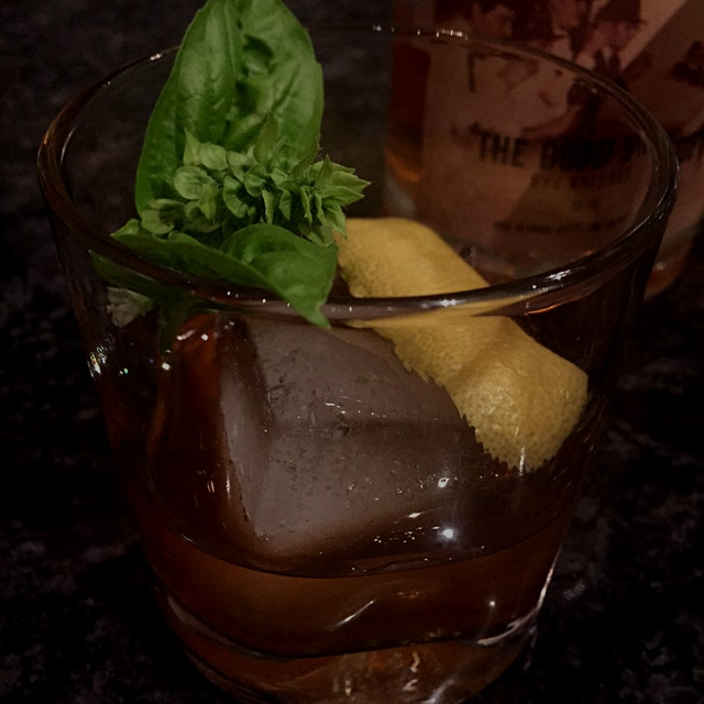Basil flower, citrus, rye